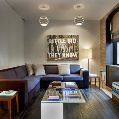 Eclectic Living Room Decor Tiles For Floor Contemporary Tribeca Apartment In New York City ...