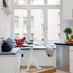 Tables For Small Kitchen Spaces Breakfast Bar Cozy Design With Practical Seating Bench ...