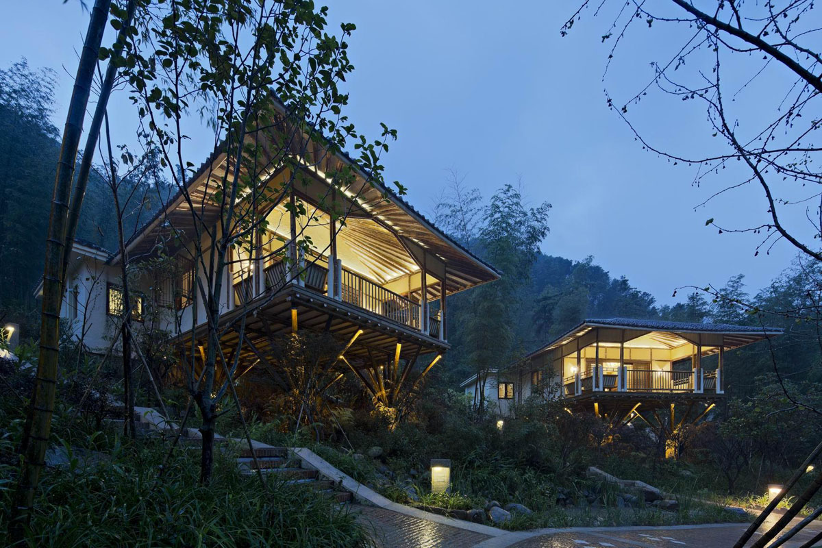 Huizhou Nankunshan Crosswaters Ecolodge  Spa Bamboo Villa  iDesignArch  Interior Design