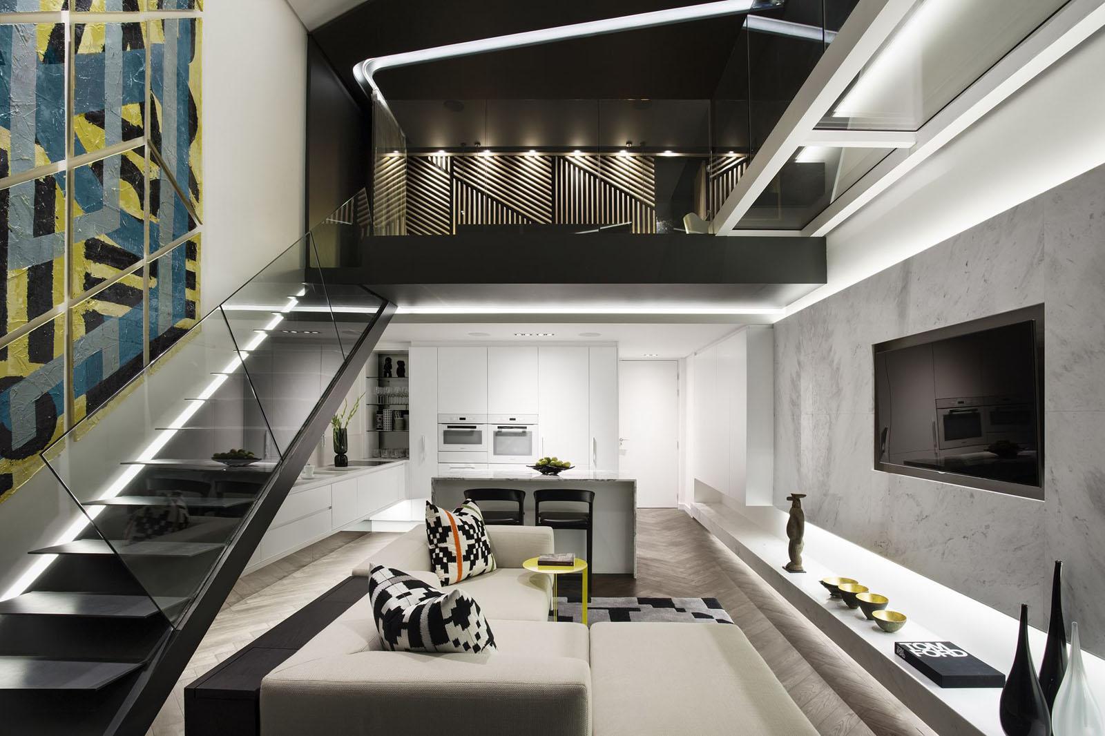 sofa warehouse cape town luxe trendy waterfront duplex penthouse apartment