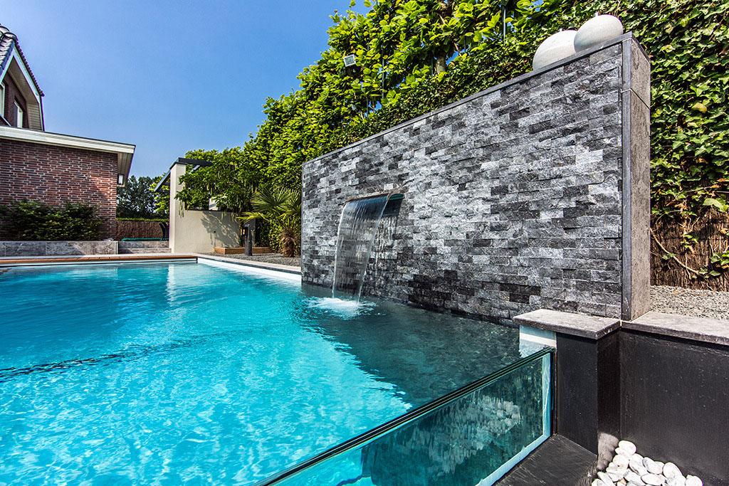 Dream Backyard Garden With Amazing Glass Swimming Pool  iDesignArch  Interior Design