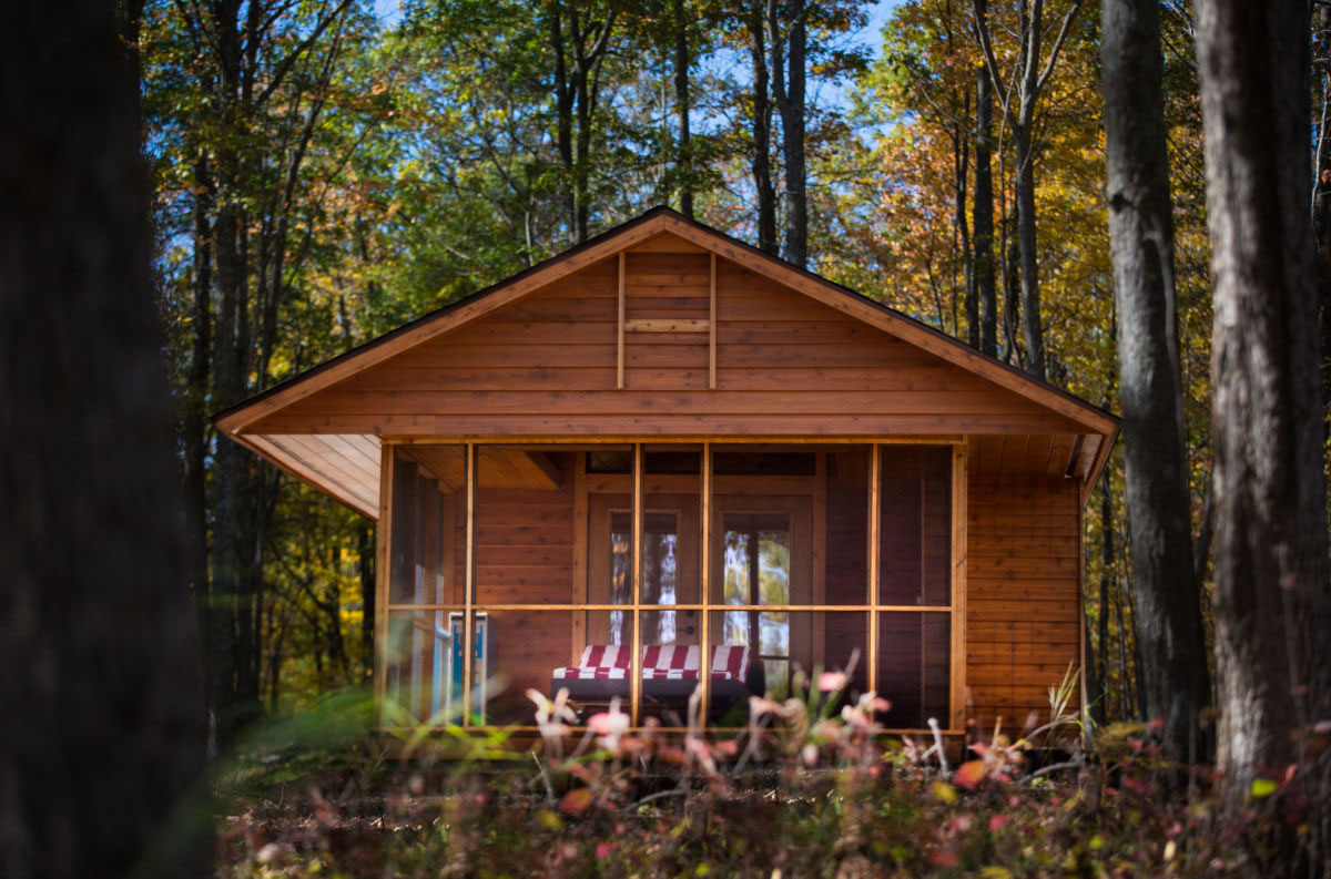 used kitchen on wheels for sale mixer reviews charming tiny cabin vacation home | idesignarch interior ...