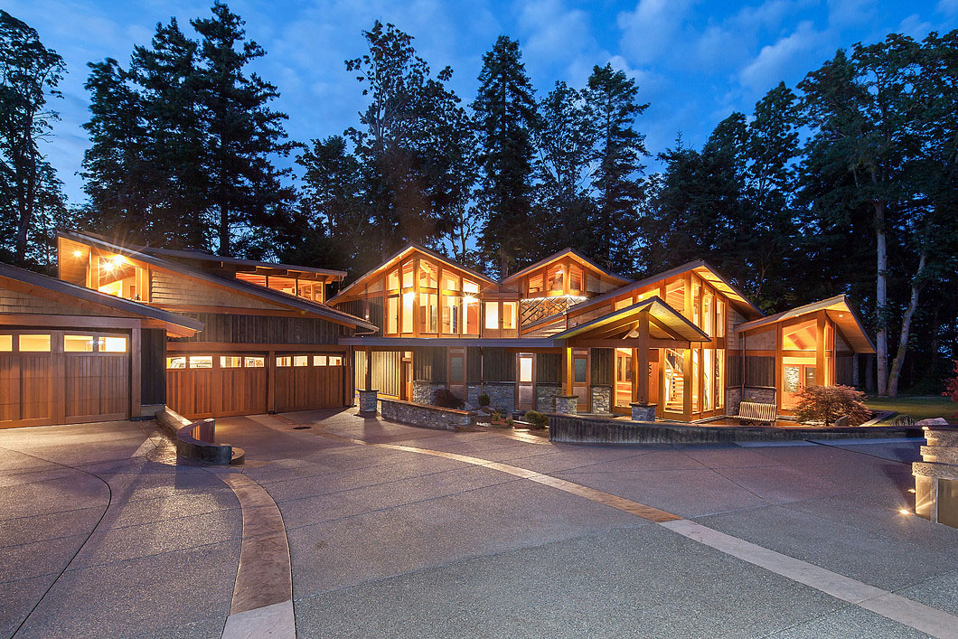 Luxury West Coast Contemporary Timber Frame Oceanfront Estate  iDesignArch  Interior Design