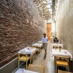 Long Kitchen Light Pantry Furniture A Narrow Alley Transformed Into Cozy Restaurant El ...