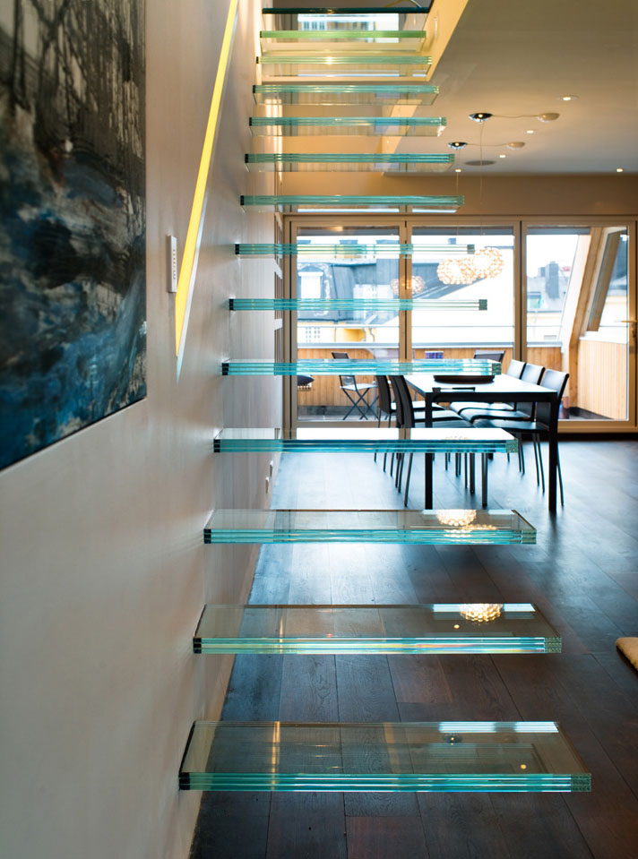 Elegant Modern Penthouse With Glass Theme  iDesignArch  Interior Design Architecture