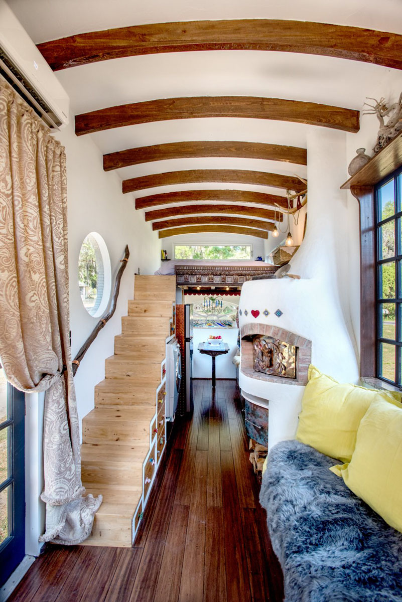 Bohemian Tiny House Constructed Using Reclaimed and Handmade Materials  iDesignArch  Interior Design Architecture  Interior Decorating eMagazine