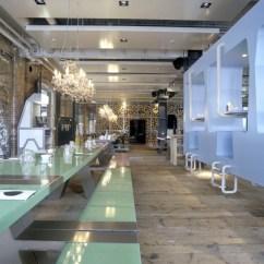 Kitchen Cabinets Wood Storage Jars Fabbrica Restaurant – A Romantic Canteen | Idesignarch ...