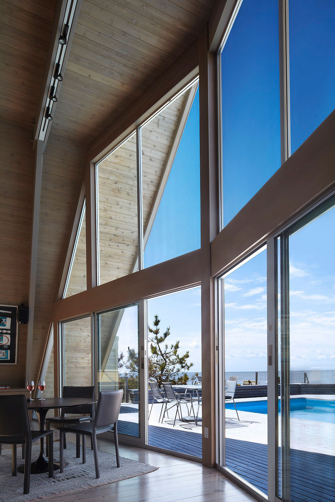 Three Storey AFrame Vacation Beach House  iDesignArch  Interior Design Architecture