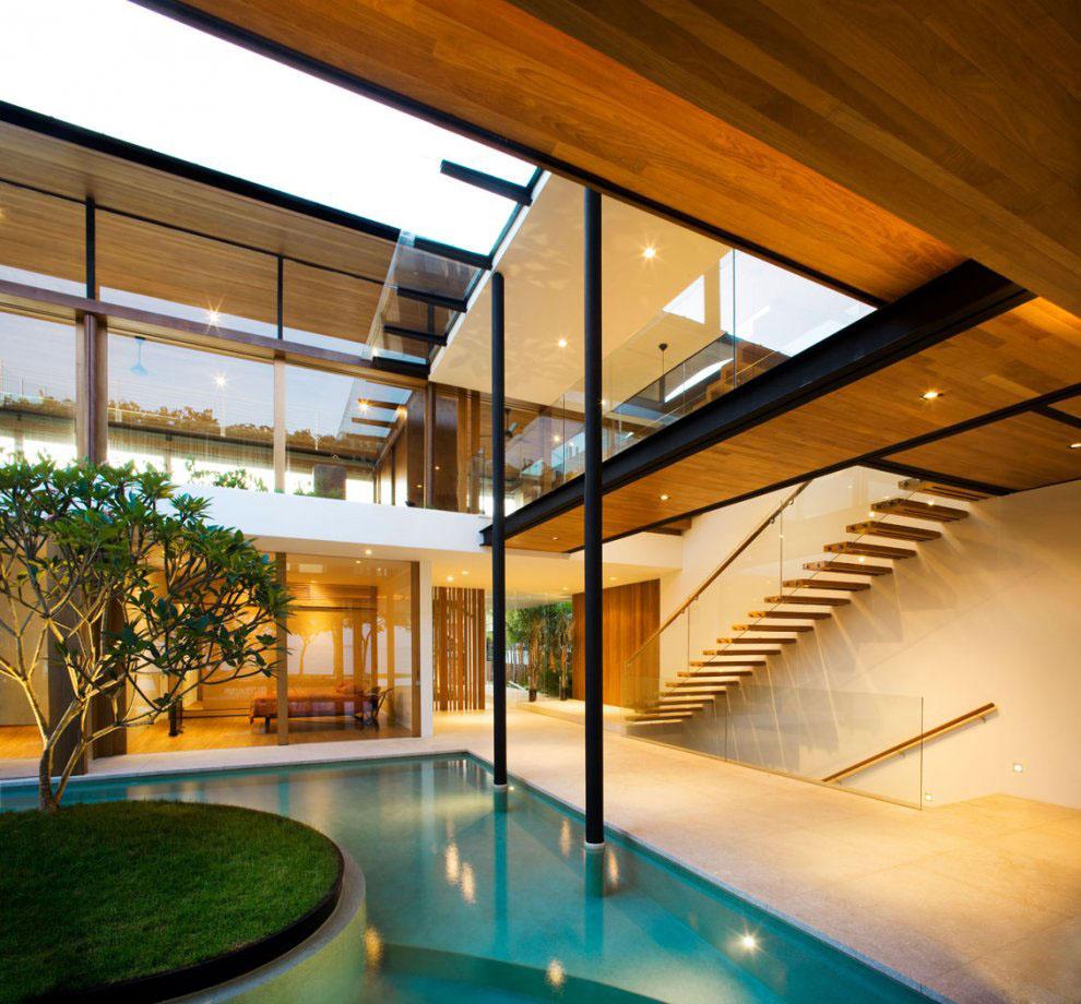 Environmentally Friendly Modern Tropical House In Singapore  iDesignArch  Interior Design