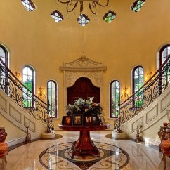 Bar In Living Room Red Curtains The Fort Lauderdale Mediterranean Style Estate With Beautiful ...
