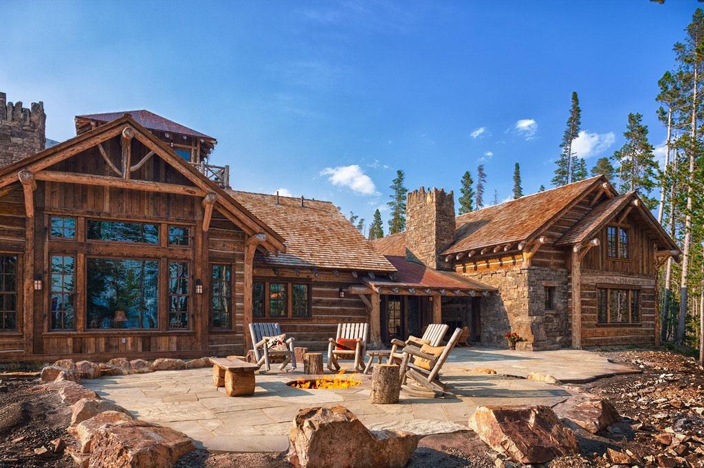 Old West Inspired Luxury Rustic Log Cabin In Big Sky Montana  iDesignArch  Interior Design