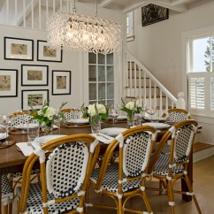 Bistro Chairs Dining Room Hickory White Parisian Cafe Inspired French Idesignarch Interior Padma Plantation Style