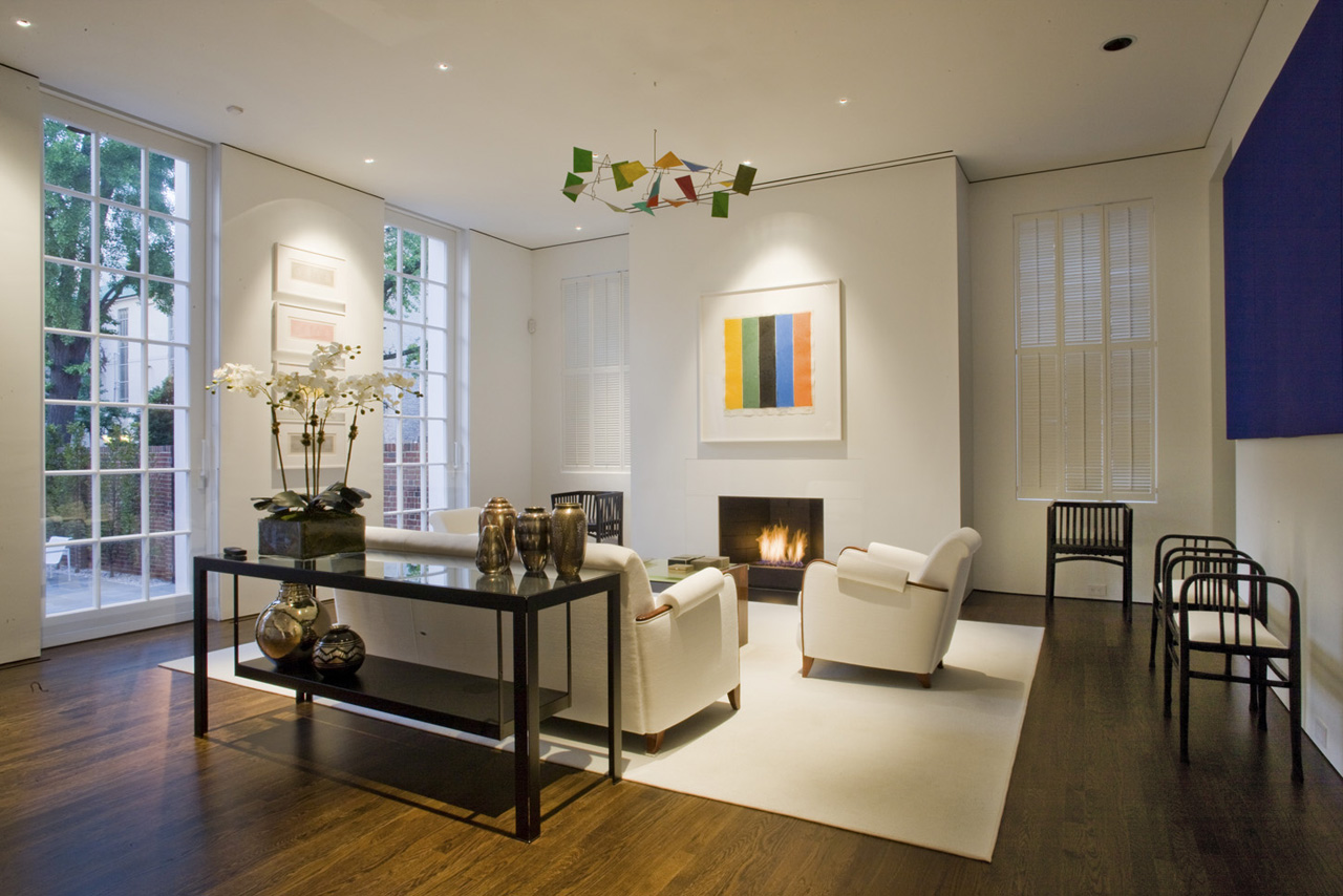 Federal Style Townhouse With Restored Exterior And Contemporary Interior Showcase  iDesignArch
