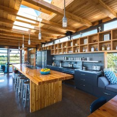 Farmhouse Kitchen Lighting Black Cabinets Modern Timber Country Cottage In Georgian Bay ...