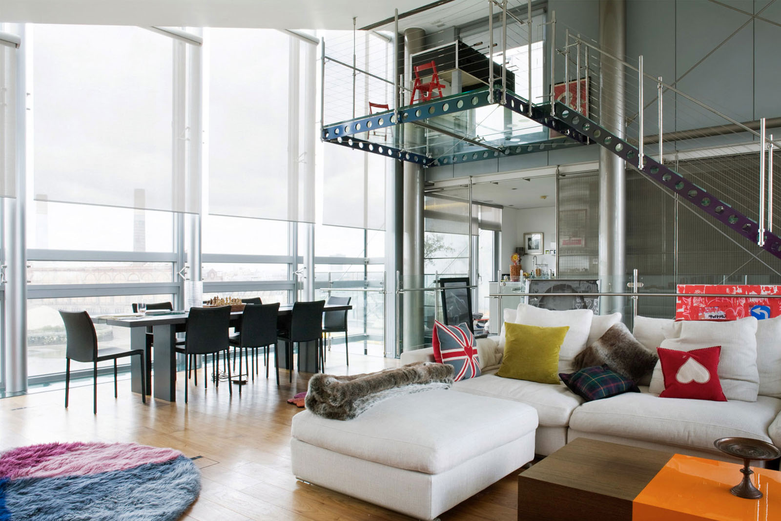 best family sofas uk scotch sofa glass penthouse in london by the thames | idesignarch ...