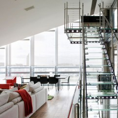 Commercial Kitchen Cabinets Barbecue Glass Penthouse In London By The Thames | Idesignarch ...