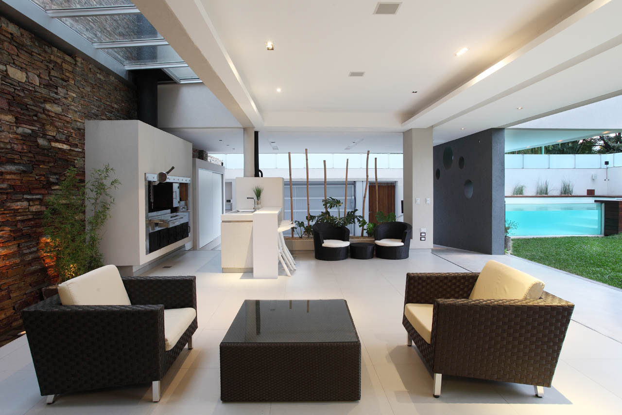 Modern Family Home With Glass Swimming Pool  iDesignArch  Interior Design Architecture