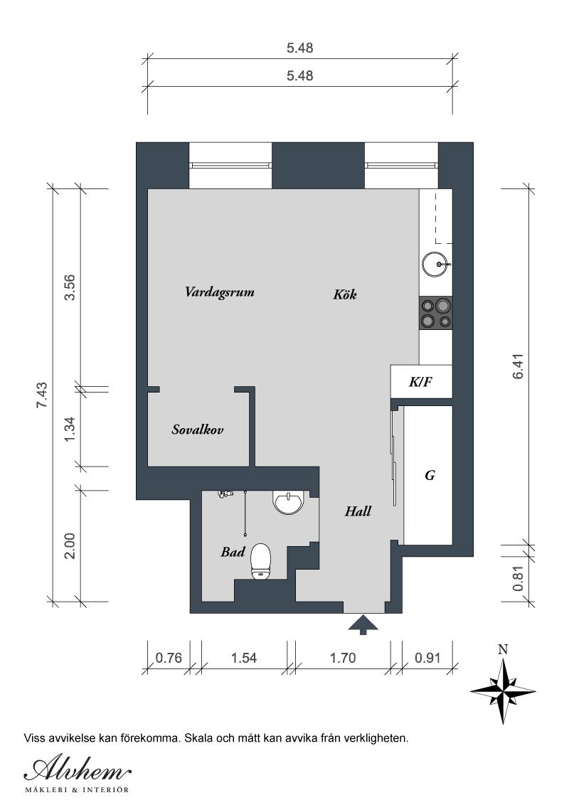 Renovated 388 Sq Ft Modern Studio Apartment