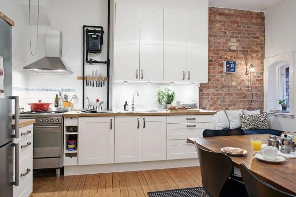 studio apartment kitchen Charming Small Studio Apartment With Spacious Kitchen