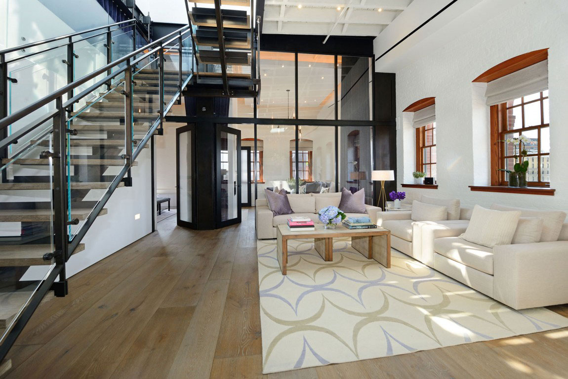 Warehouse Penthouse Loft Blends Modern New York With OldTime Charm  iDesignArch  Interior