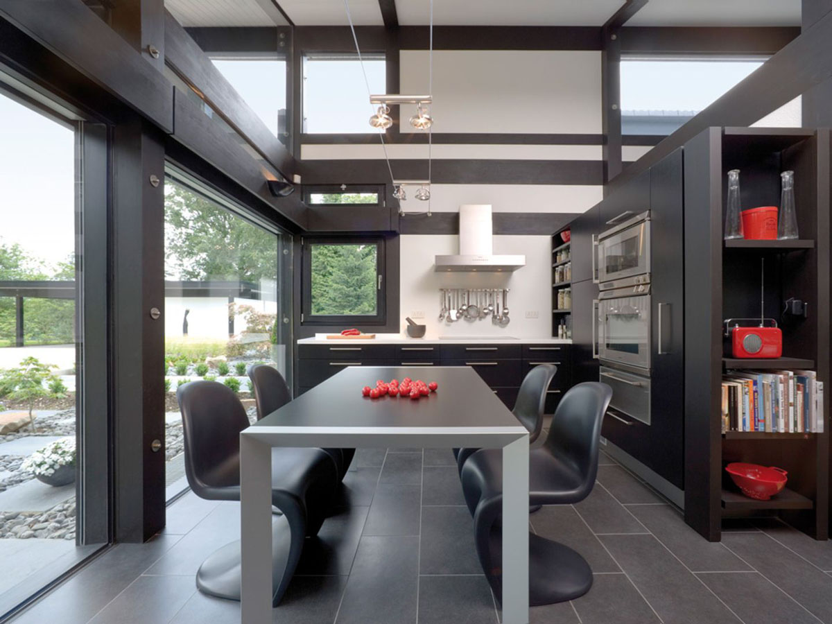 Modern Timber Framed Minimalist Bungalow House