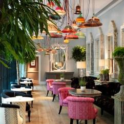 Outdoor French Bistro Chairs Spider Back Chair Ham Yard Bar & Restaurant Interior Design By Kit Kemp | Idesignarch ...