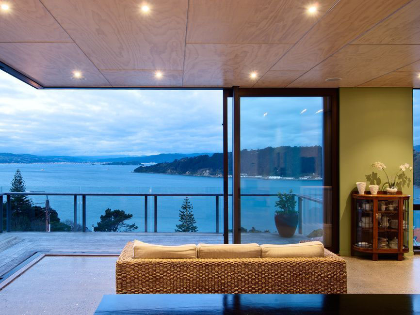 Sea View Home Built On A Slope In Wellington  iDesignArch