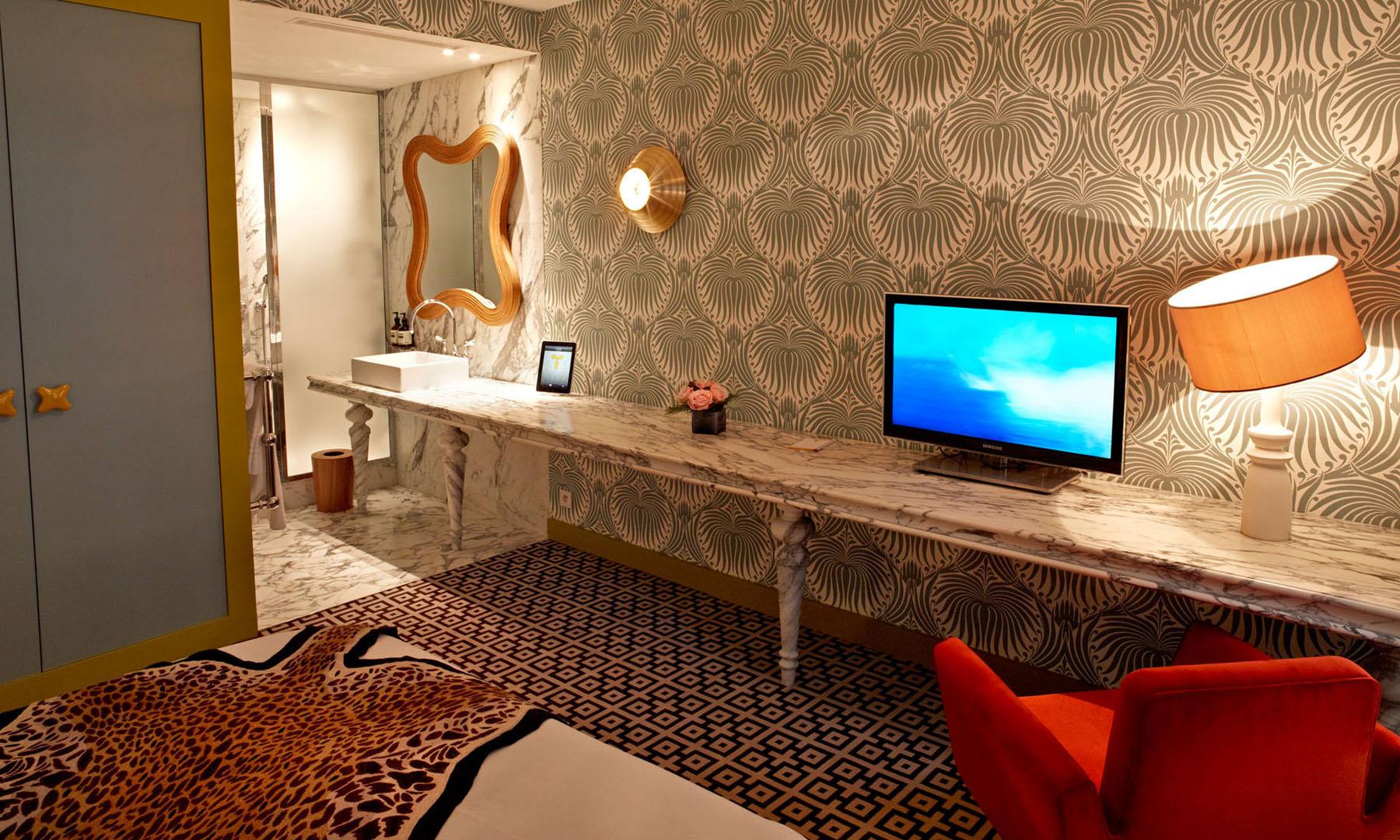French Art Deco Interior Design By India Mahdavi At Hotel