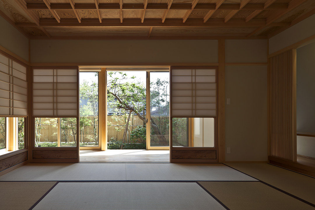 Timber Framed Japanese House Built Around Private Gardens IDesignArch Interior Design