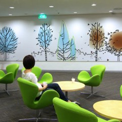 Barcelona Chairs Grey Living Room Chair Fun Colours Provide Vibrant Office Interiors | Idesignarch Interior Design, Architecture ...