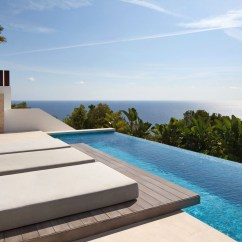 Glass Kitchen Tables And Chairs Crocks Modern Mediterranean Villa In Ibiza With Panoramic Ocean ...
