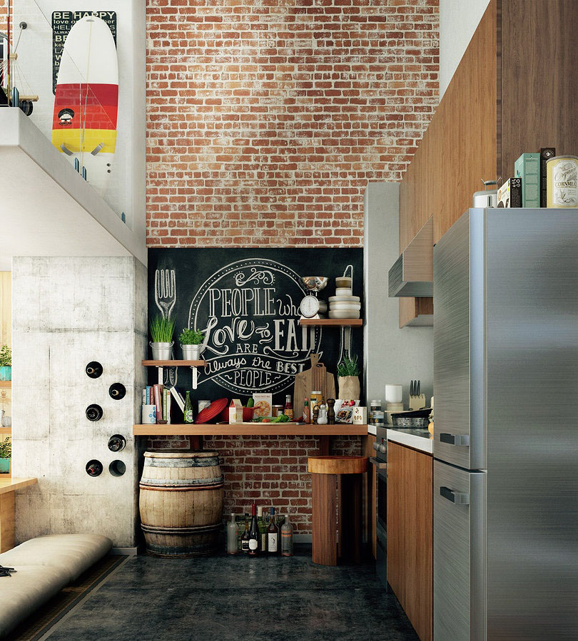 Compact Loft Apartment With High Ceiling Creates Extra