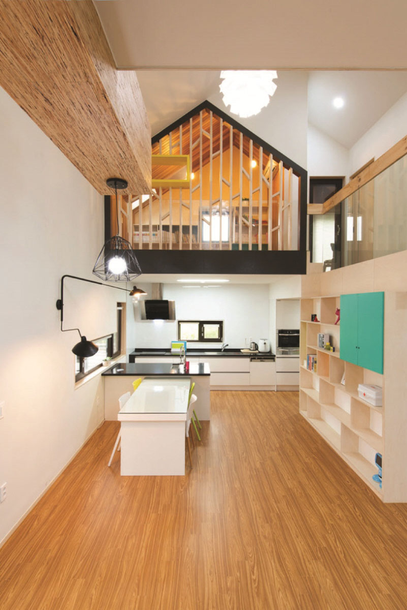 small space kitchen costco island modern t-shaped house in south korea | idesignarch ...