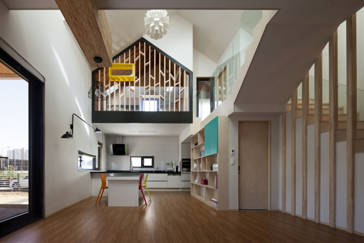 building kitchen cabinets how to decorate modern t-shaped house in south korea | idesignarch ...