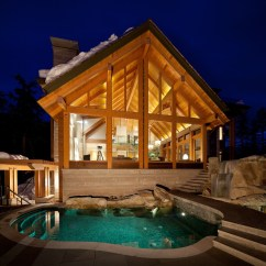 Kitchen Backyard Design Lowes Cabinets Luxury Timber Frame Mountain Retreat In Whistler ...