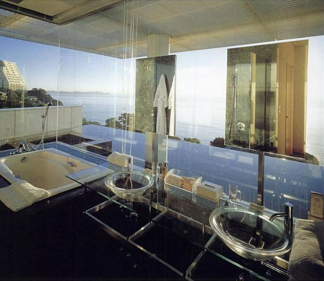 WaterGlass House By Kengo Kuma  iDesignArch  Interior