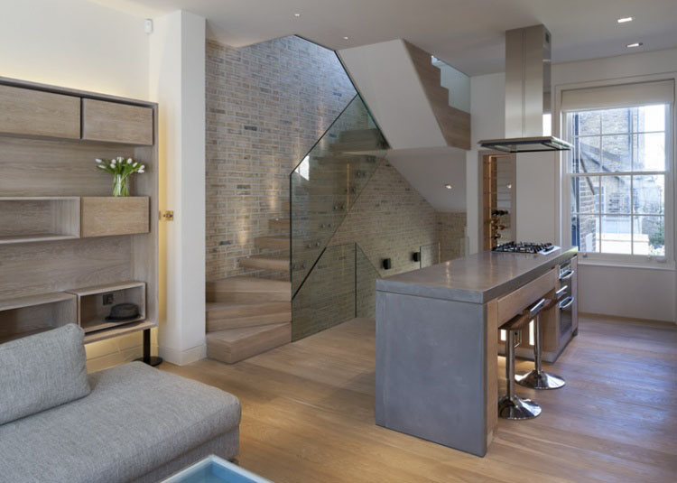 Triplex Loft Apartment In Kensington With Butterfly Roof
