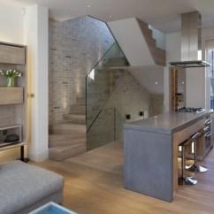 Prefab Outdoor Kitchens Soapstone Kitchen Sink Triplex Loft Apartment In Kensington With Butterfly Roof ...