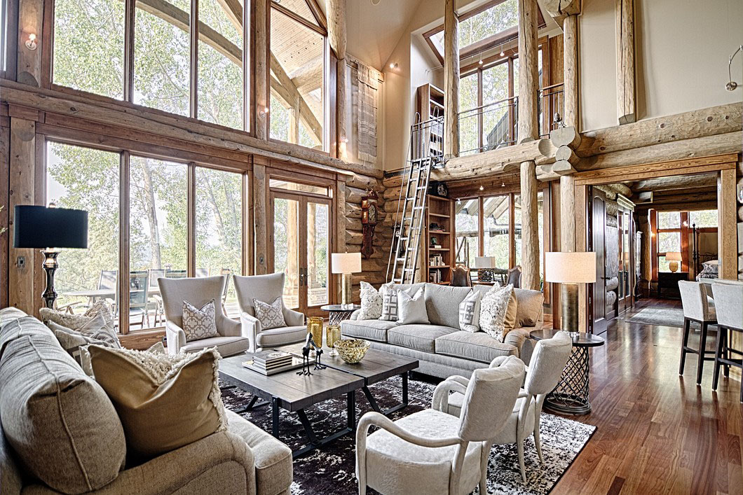 Timeless Luxury Log Home In The Foothills of The Canadian Rockies  iDesignArch  Interior