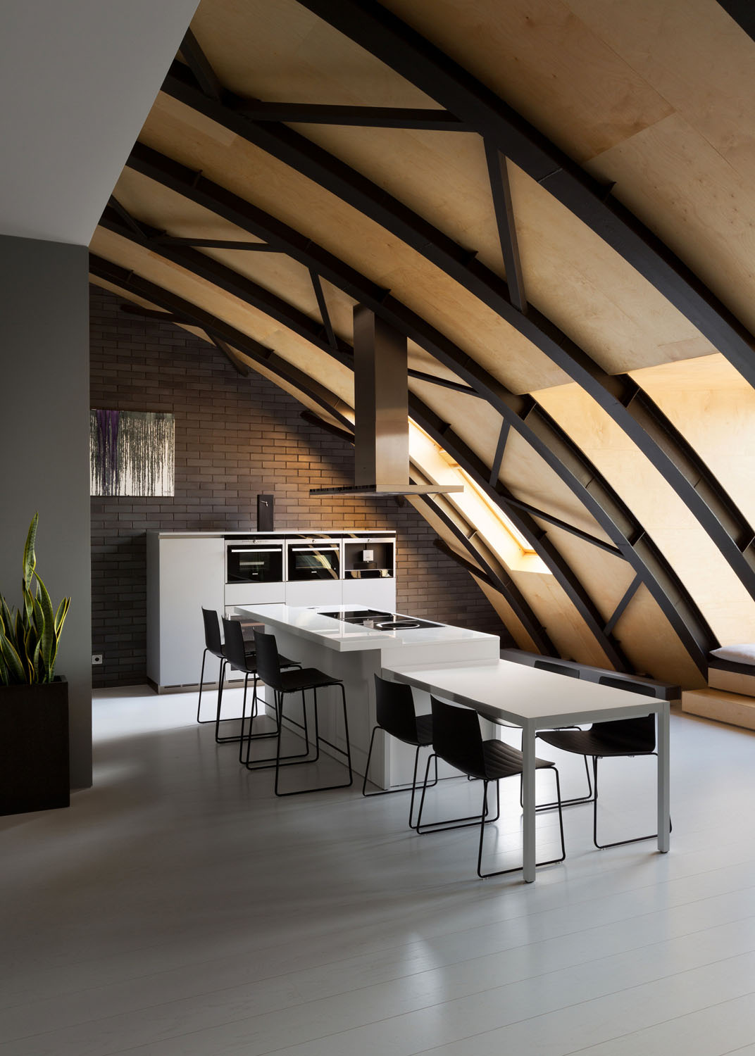 Industrial Space With Arc Roof Transformed Into Sophisticated Modern Loft IDesignArch