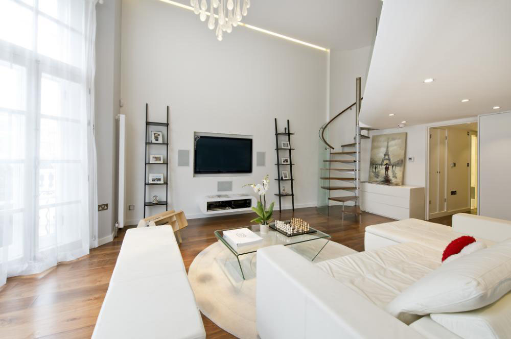 beautiful small apartment living rooms stylish chairs for room knightsbridge with mezzanine study | idesignarch ...