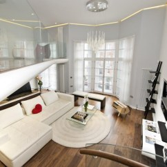 Contemporary Small Living Room Pictures Transitional Rooms Knightsbridge Apartment With Mezzanine Study | Idesignarch ...