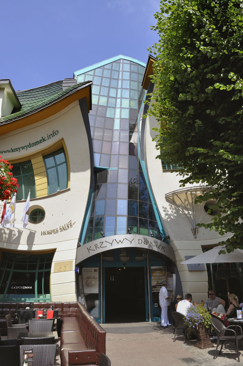 Krzywy Domek Crooked House In Sopot Poland