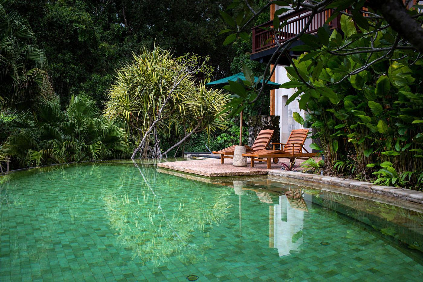 teak kitchen chairs valance patterns balinese-style bungalow in kuala lumpur | idesignarch ...