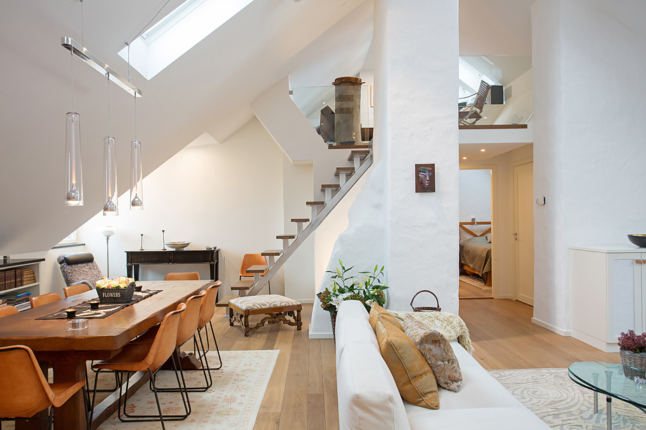 Tasteful Modern Loft Apartment with Bright Open Plan and High Ceilings  iDesignArch  Interior