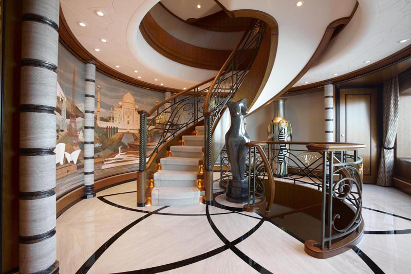 Superyacht Lady Christine Interiors IDesignArch