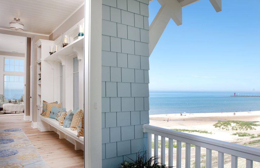 Coastal Design Beach House On Lake Michigan  iDesignArch  Interior Design Architecture