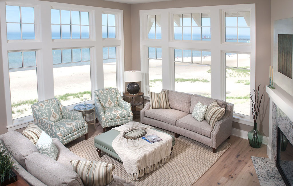 Coastal Design Beach House On Lake Michigan  iDesignArch  Interior Design Architecture