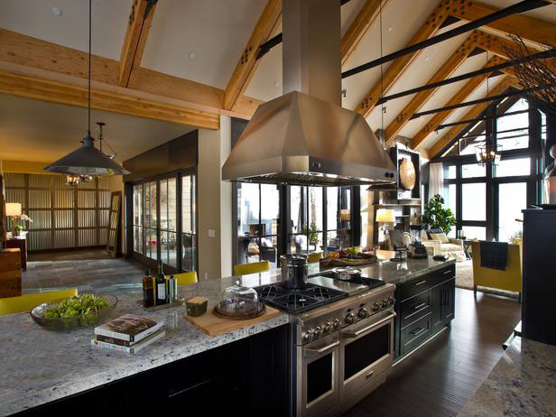 These days, the kitchen is the busiest room in most houses. Rustic Mountain Style Lake Tahoe Dream Home | iDesignArch | Interior Design, Architecture