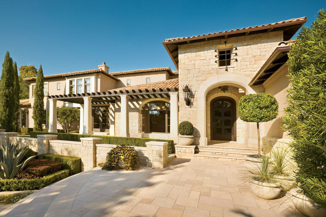 outdoor kitchen houston floor tiles for spanish-colonial style luxury mansion in the heart of ...